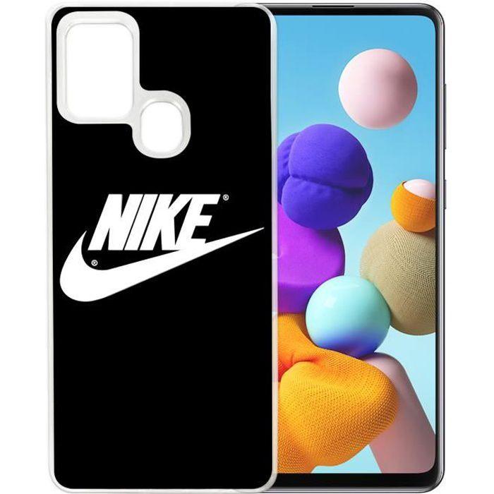 Coque pour Samsung Galaxy A21s - Nike Logo Noir