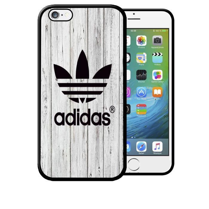 coque iphone 5c adidas effet bois blanc nature bru