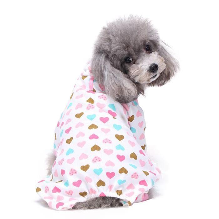 CHAUDIÈRES 5079 Cute chiot coton Pyjama Teddy chien doux Home