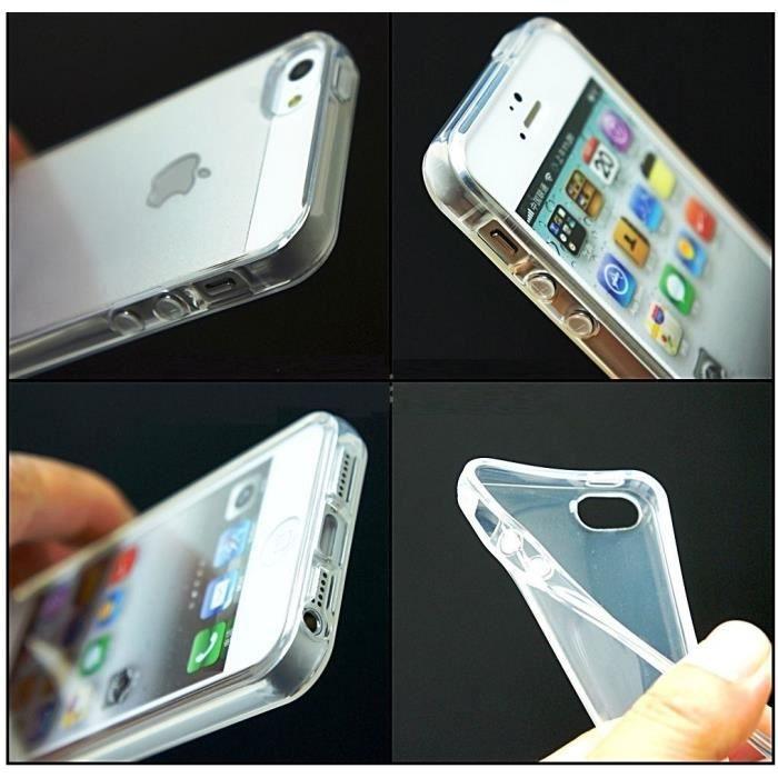 coque iphone 5 5s transparente silicone gel souple