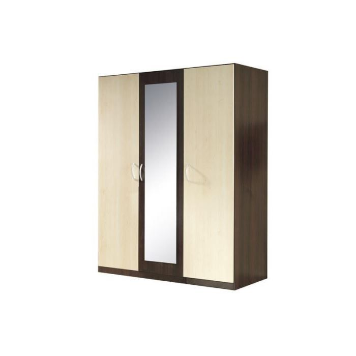 armoire 3 portes couleur weng et erable moncornerdeco. Black Bedroom Furniture Sets. Home Design Ideas