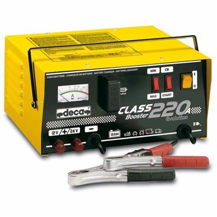 CHARGEUR DE BATTERIE Chargeur de batterie booster 12/24 V Class 220a