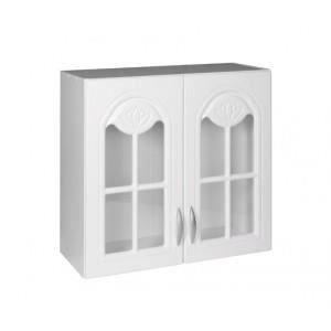 ÉLÉMENTS HAUT Meuble cuisine haut 80 cm 2 portes vitrées DINA