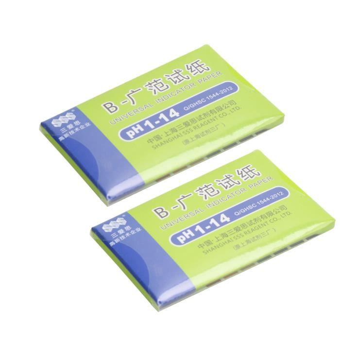 TRIXES Paquet de 2 feuilles de tournesol de pH 1 /à 14 feuilles de papier de test par bande de 80
