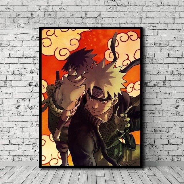 yaoxingfu Village de Naruto Konoha Murale Image Artistique Peinture sur Toile Art Mural Artisanat Suspendu d/écoration de la Maison 30x90cm
