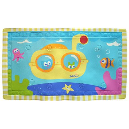 tapis de bain bebe antiderapant babysun 70 x 40 cm achat vente tapis de bain tapis bain. Black Bedroom Furniture Sets. Home Design Ideas