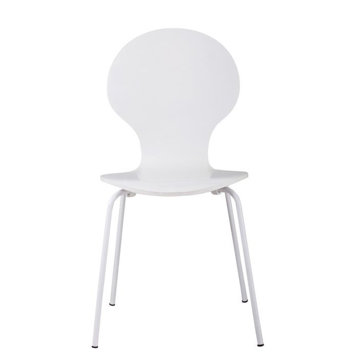 Lot de 4 chaises circle blanches achat vente chaise - Lot 4 chaises blanches ...