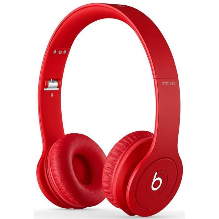 beats solo hd rouge casque audio avec micro. Black Bedroom Furniture Sets. Home Design Ideas