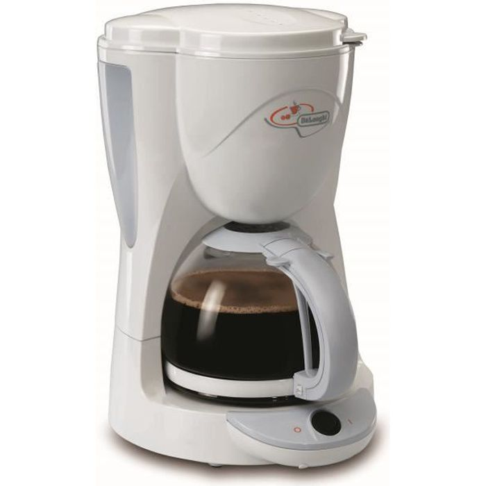 delonghi icm2 1 cafeti re filtre 1000w 10 tasses blanc achat vente cafeti re cdiscount. Black Bedroom Furniture Sets. Home Design Ideas