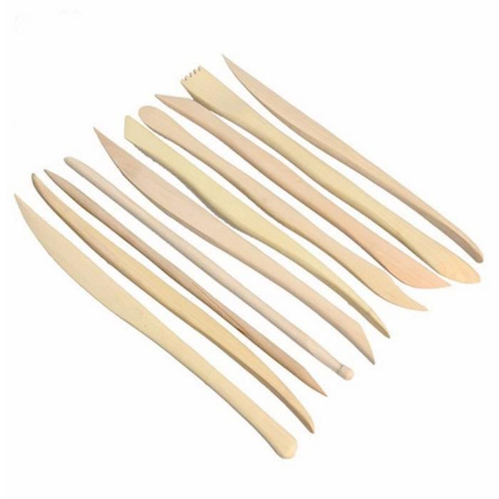 Lot de 10 PCS Outil de Modelage Argile Outillage de Sculpture ... 8d777c170477
