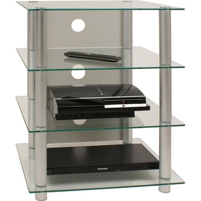 blados meuble tv hifi video rangement verre et m tal achat vente meuble tv blados meuble tv. Black Bedroom Furniture Sets. Home Design Ideas