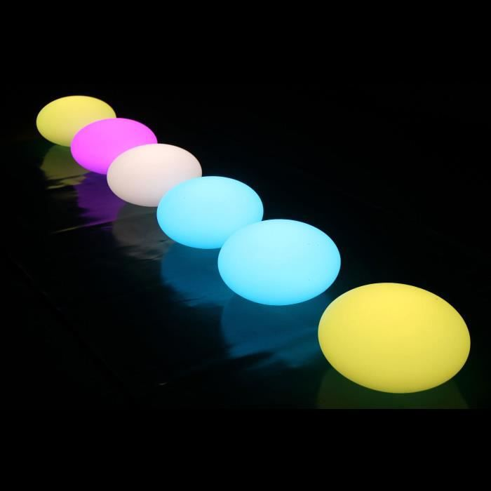 boule led lumineuse flottante etanche piscine terrasse 35cm telecommande achat vente. Black Bedroom Furniture Sets. Home Design Ideas
