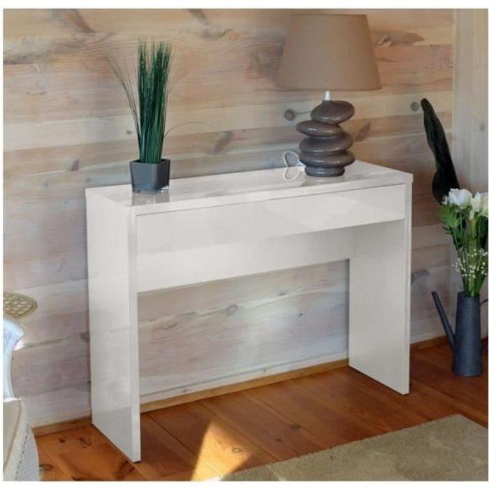 CONSOLE Meuble d'entrée, console ARENA coloris blanc. Meub