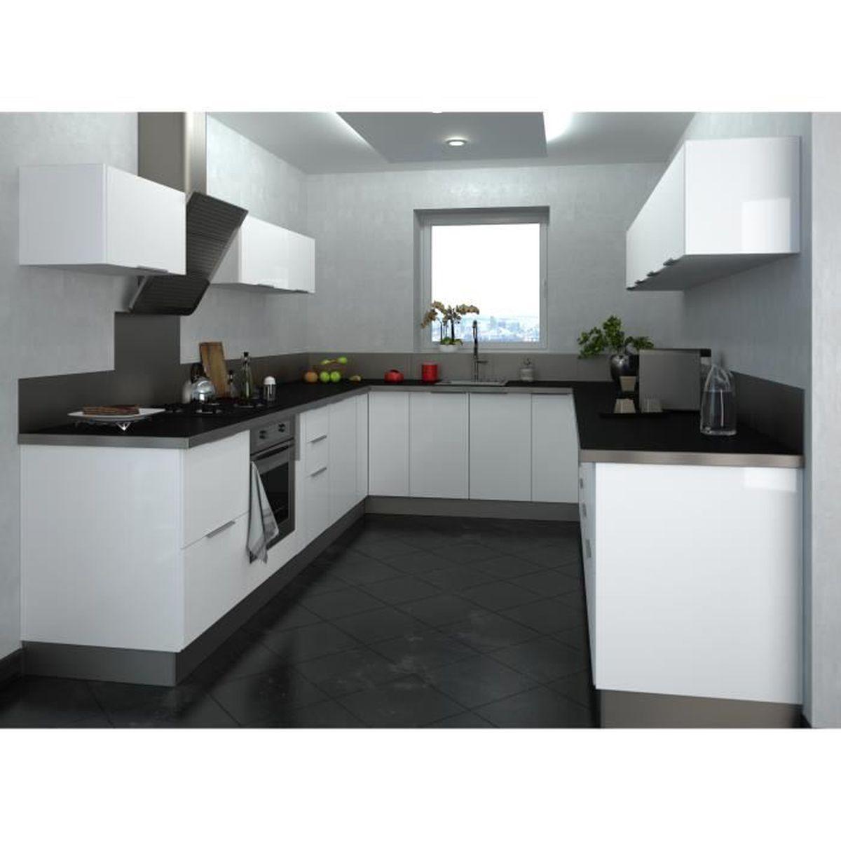 Meuble de cuisine haut sur hotte - 12cm - Blanc - Élément séparé