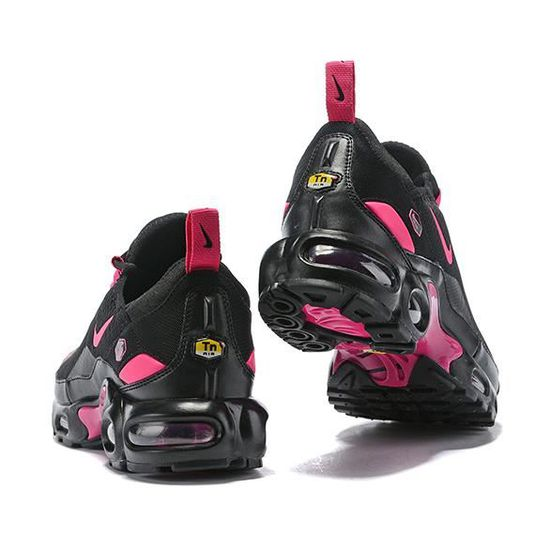 Baskets Nike Air Max TN Plus Noir Rose Femme Running Chaussures ...