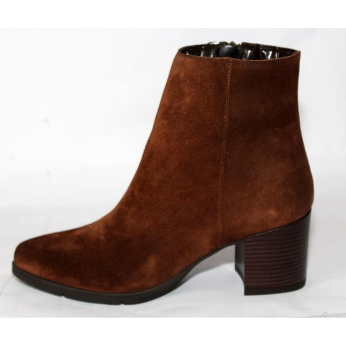 KELL BOTTINES CHAUSSURES CUIR MARRON FEMME T 37 NEUVES AgO4RpGBf
