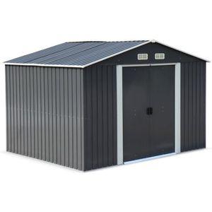 ABRI JARDIN - CHALET Abri de jardin en métal - WEPPES 7 m² anthracite -