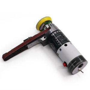 Ponceuse /à Bande /électrique /établi /à Vitesse R/églable Ponceuse en Acier Inoxydable Rectifieuse de Polissage de Ceinture de 15mm
