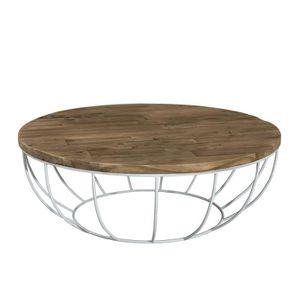 Table Basse Ronde Style Industriel