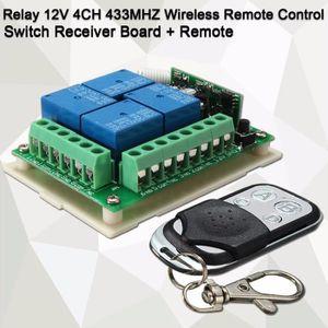 TÉLÉCOMMANDE DOMOTIQUE  RF 433MHZ Relais 12V 4-CH Sans Fil Télécommande Co