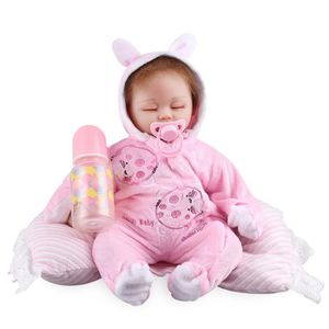 POUPON 46cm bébé poupée souple en silicone nouveau-né béb