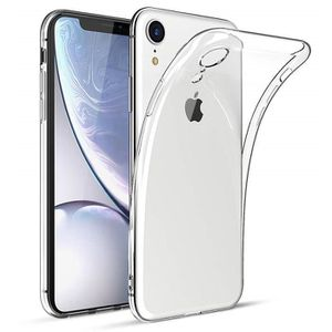 COQUE - BUMPER Coque iPhone XR, Souple Clair TPU Silicone Housse,