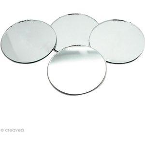 8 X Verre//Miroir//Photo Suspendu Plaque Support découpage 50 mm EB