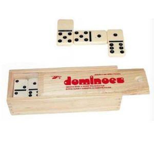DOMINOS Jeu de dominos - Plumier bois 22 lignes