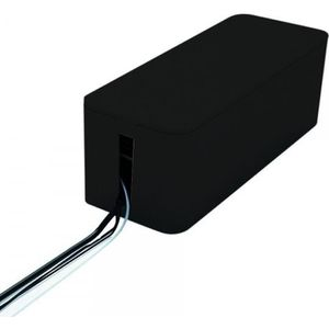 GOULOTTE - CACHE FIL Boîte cache fils électriques noire.