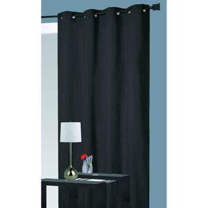 RIDEAU Rideau isolant thermique -  Noir - 140 x 260 cm -