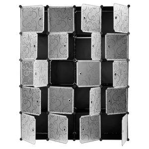 ARMOIRE DE CHAMBRE Armoires Étagères Plastique 20 Cubes Modulaire Vêt