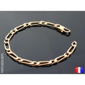 BRACELET - GOURMETTE Bracelet pour homme en plaqué Or gourmette maille