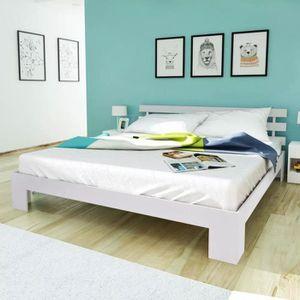 STRUCTURE DE LIT Cadre de lit contemporain Canapé-Lit adulte Blanc