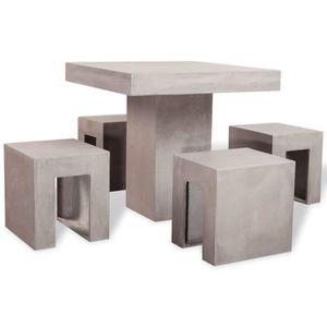 Salon de jardin beton