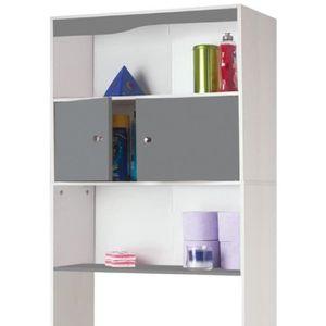MEUBLE A CASIER Meuble étagère dessus wc en bois coloris gris