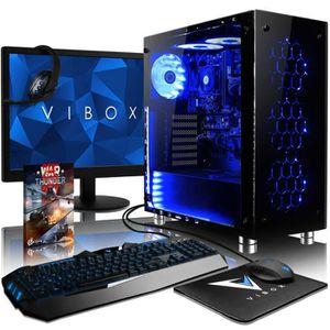 UNITÉ CENTRALE + ÉCRAN VIBOX Nebula GS680T-74 PC Gamer Ordinateur avec Je