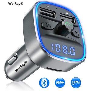 TRANSMETTEUR FM Transmetteur fm Bluetooth,WEIRAY® Voiture Chargeur