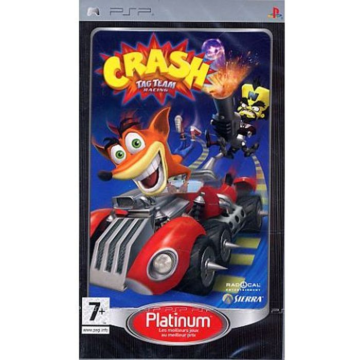 JEU PSP CRASH Tag team racing / jeu console PSP