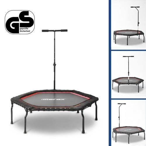 Trampoline de Fitness gymnastique pliable de trampoline d'exercice pour adultes en salle, charge max. 120 kg, Ø 127 cm--ROUGE