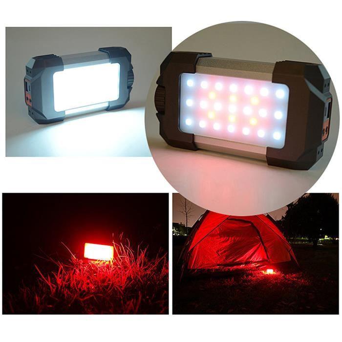 Lampe de camping à batterie USB 5400mA intégrée avec thermomètre à boussole Camping Light 110