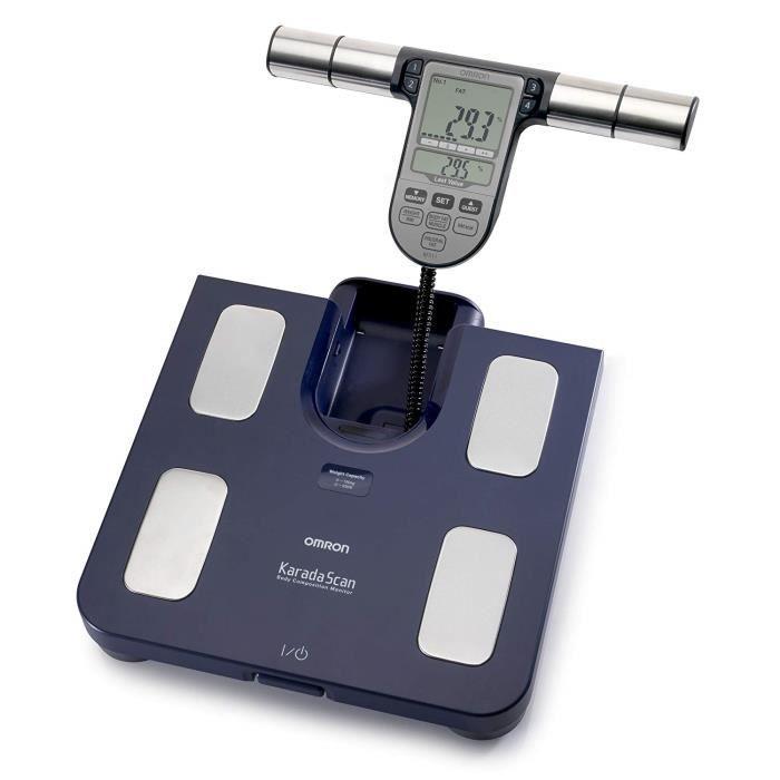 OMRON BF-511 Balance digitale haute précision, composition corporelle complète, indication du niveau de graisse corporelle, grais