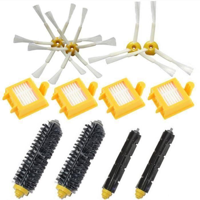 brosse de poils de haute qualité flexible pour oeuf brosse latérale Hepa Kit de filtre pour iRobot Roomba série 700 770 780 FR45672