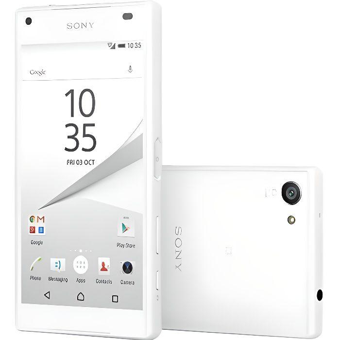 Sony Xperia Z5 Compact Smartphone 4G 11.7 cm (4.6 pouces) 2 GHz Octa Core 32 Go 23 MPix Android™ 5.1 Lollipop blanc