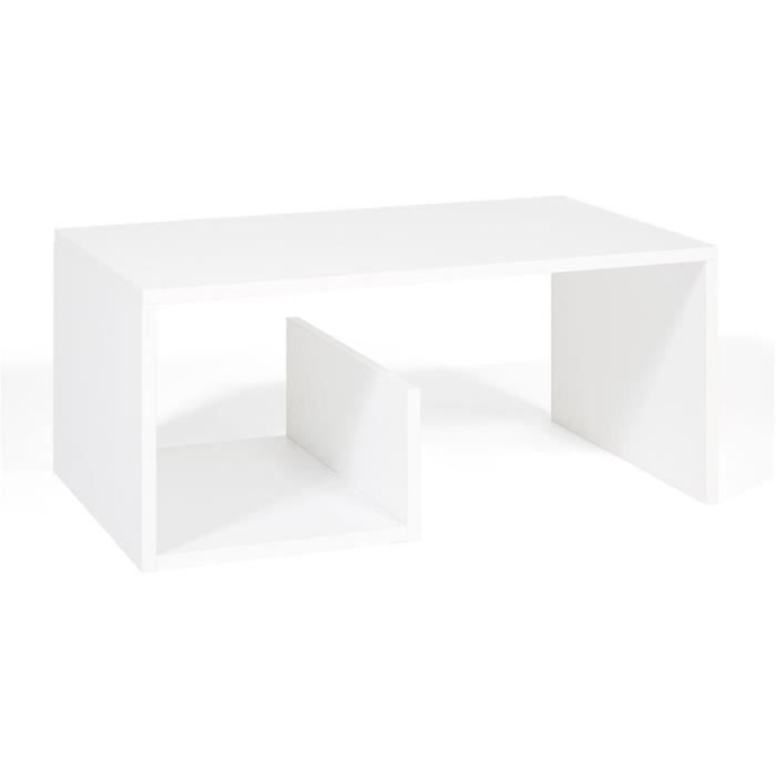 Mobili Fiver, Table basse, Snake, Frêne blanc, Mélaminé, Made in Italy