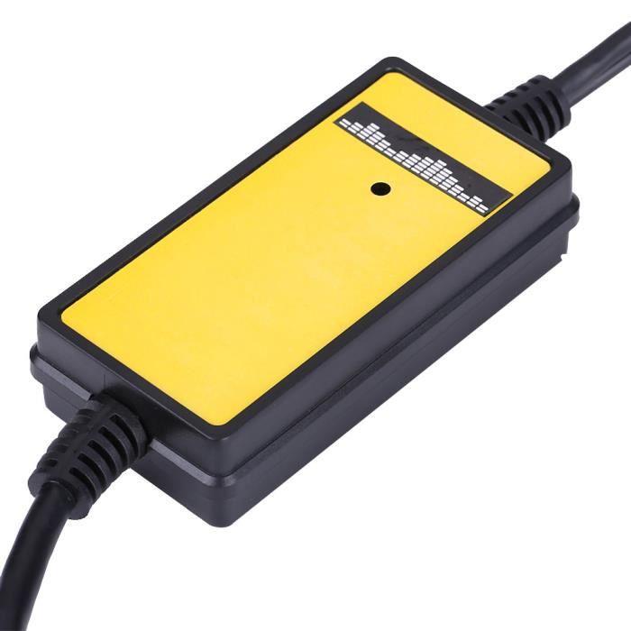 Qiilu Câble Aux Adaptateur USB Voiture Auto Lecteur Mp3 Audio Auxiliaire Interface Autoradio pour Honda Accord Civic Odyss