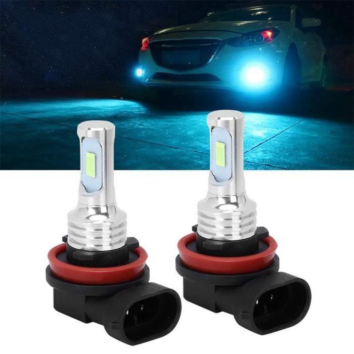 H-8 H11 80W ampoules LED antibrouillard pour voiture phares bleu glace 8000K 80W 1100LM 2 pièces Miaienu 88