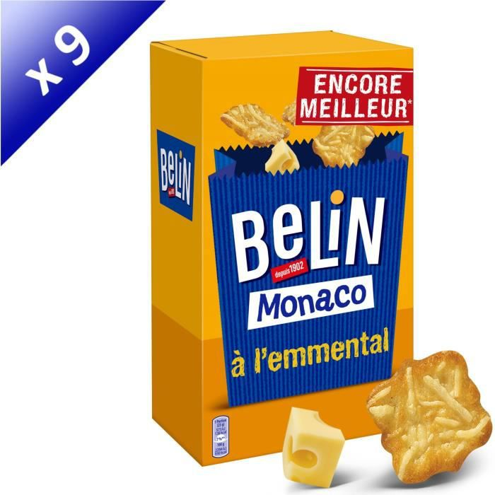 [LOT DE 9] BELIN Monaco à l'emmental 50g