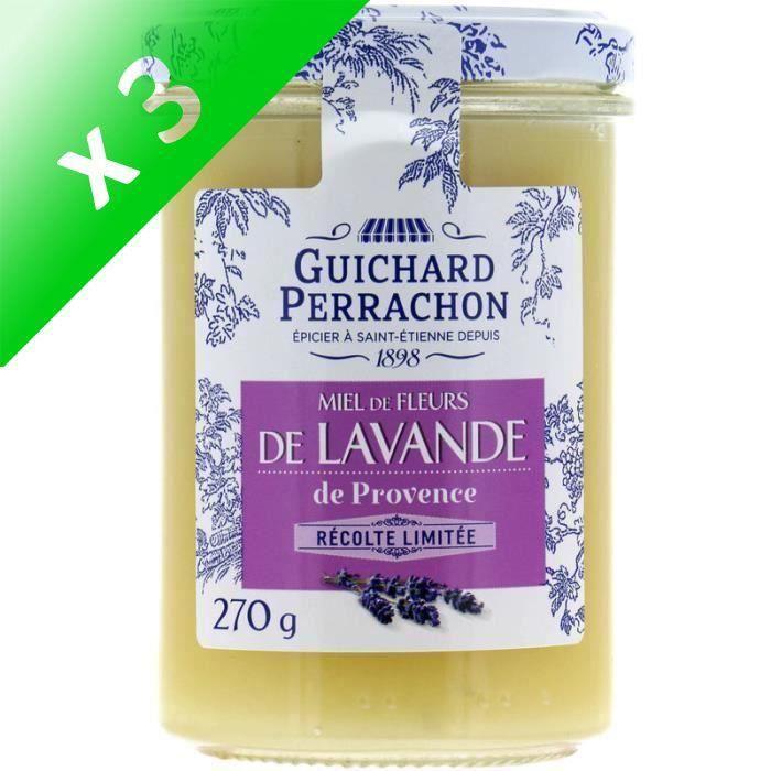 [LOT DE 3] GUICHARD PERRACHON Miel de lavande de Provence - 270 g