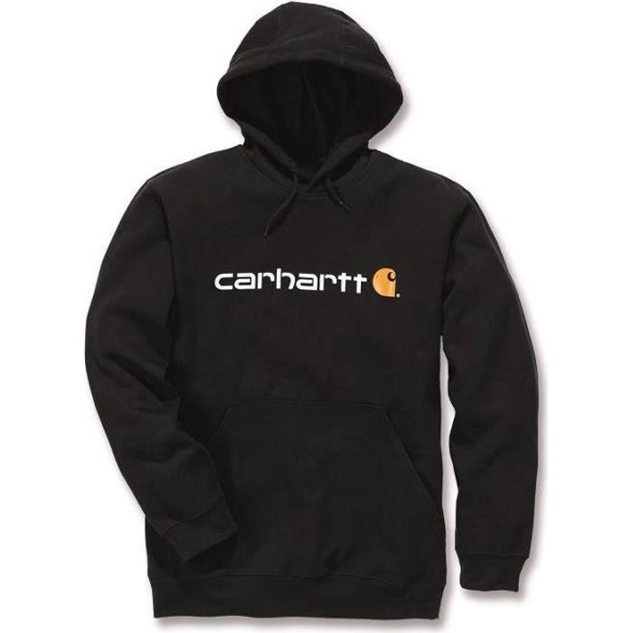 Sweat à capuche sans zip logo manche noir XXL CARHARTT S1100074001XXL