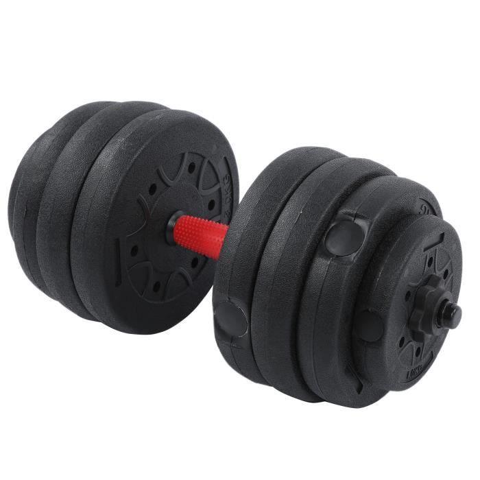 Ensemble de poids, haltères réglables de 20 kg Ensemble d'haltères de musculation Fitness TKORning Home HB006 -KOR